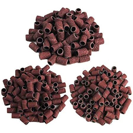 Amazon Com Lurrose 300pcs Sanding Bands Nail Drill Sanding Ring Grinding Head Polisher Essential Supplies Sand Circle Manicure Tool Beauty