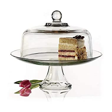 Anchor Hocking Presence Cake Plate with Dome, Set of 1