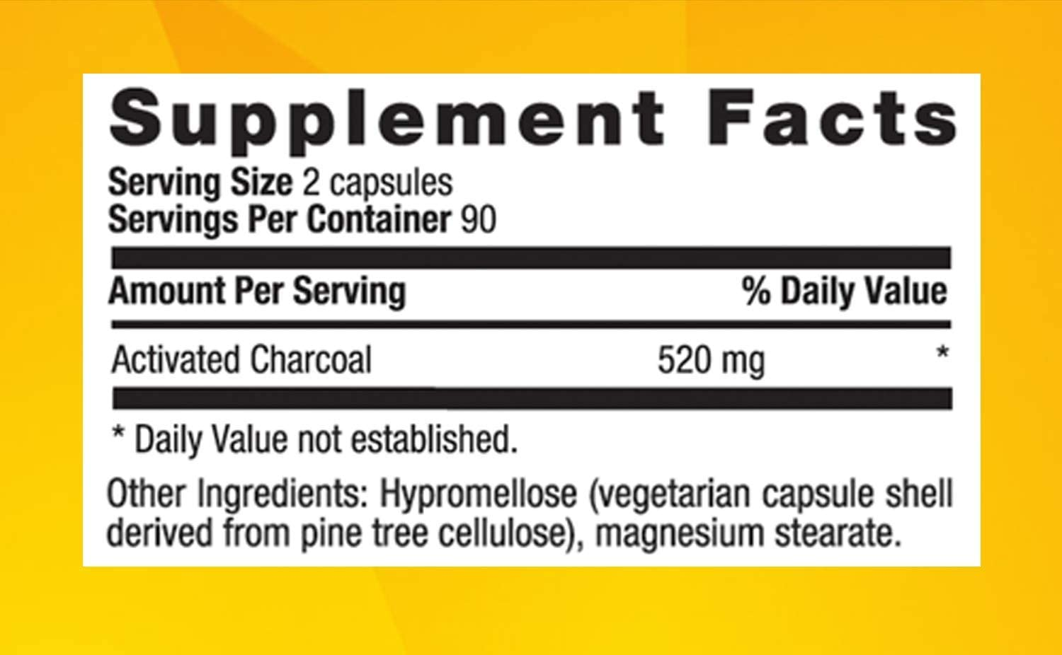 Country Life Natural Activated Charcoal - 260 mg 180 Capsules, Packaging May vary : Health & Household