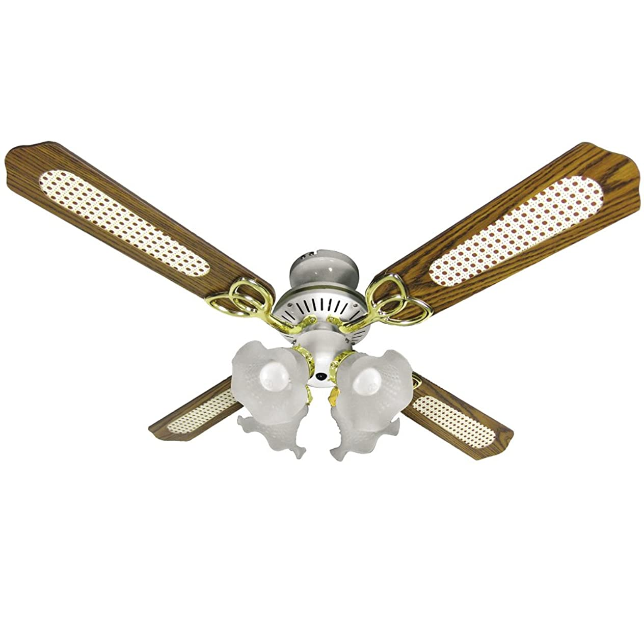 援助普通の無能シーリングファン 冷暖房効果 シーリングファンライト リモコン式 扇風機 照明 4灯 LED対応 省エネ 風量調節 天井照明 天井ファン おしゃれ ブラウン