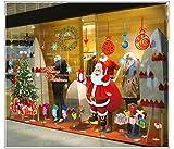 Navidad Decoracion Vinilo pegatina pared - Árbol Papá Noel - salón dormitorio...