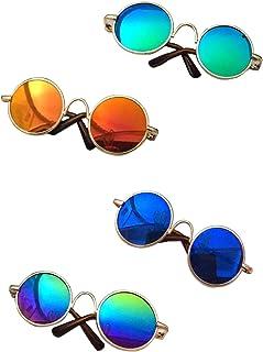 Gafas de sol redondas para gatos o perros pequeños, MMY, marco de metal, 1 unidad