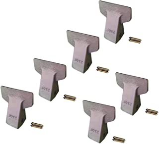 6 - Backhoe/Mini Excavator Bucket Flare Teeth w Pins - 23F, 230F, 23PN