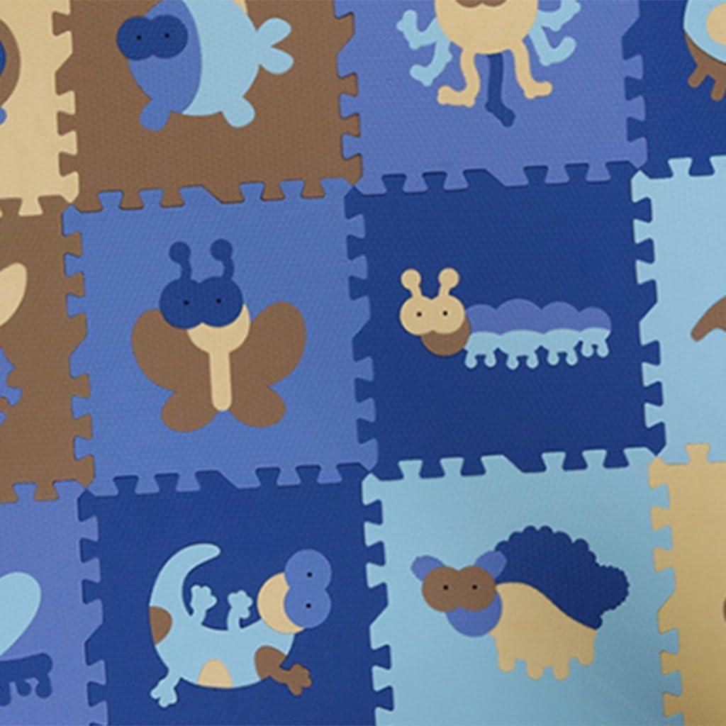 LOVIVER 12 Tapis De Jeu De Puzzle XKids, Carreaux De Sol, Plancher Protecteur - Sheng-Xiao Bleu Insecte Bleu