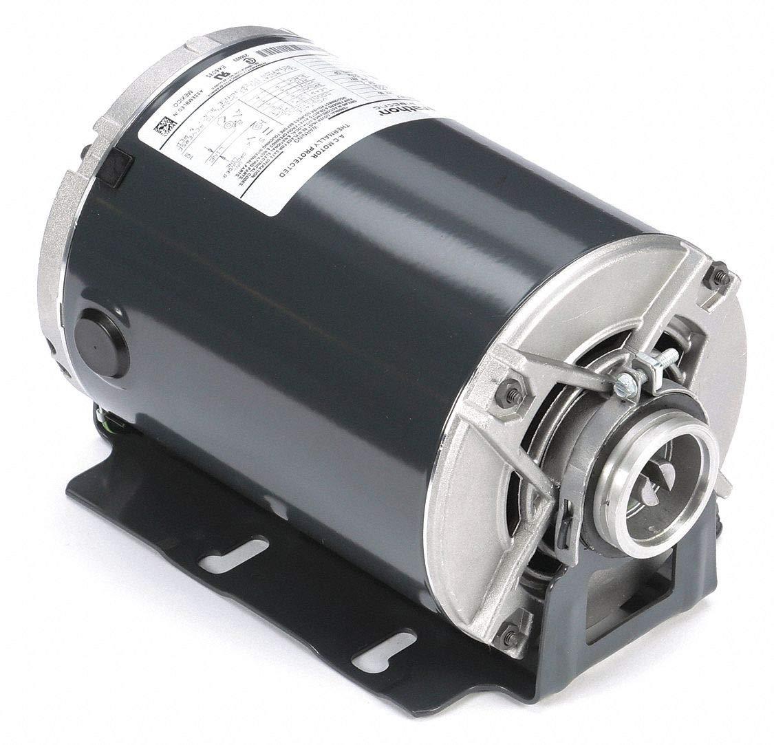 Marathon HG714 48Y Frame Open Drip Proof 5KH37PNA479X Carbonator Pump Motor, 3/4 hp, 1800 RPM, 115/230 VAC, 1 Split Phase, 1 Speed, Ball Bearing, Rigid Base