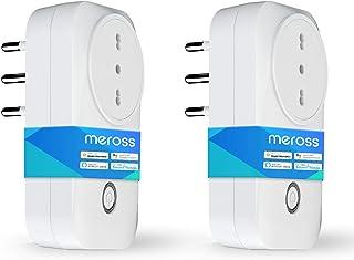 meross Presa Intelligente Italiana Smart Plug, Spina WiFi, Compatibile con HomeKit Siri, Alexa, Google Assistant e SmartTh...