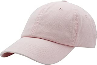 AZTRONA Baseball Cap Men Women Hat - Unisex 100% Cotton Plain Pigment Dyed 4f29b01897e9