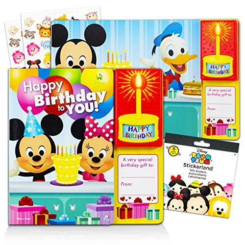 Disney Mickey Mouse Sound Books Collection for Toddlers Bundle ~ Happy Birthday Mickey and Minnie Mouse Board Book with Stickers (Mickey Mouse Books for Kids)