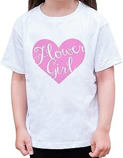 Girl's Pink Heart Flower Girl Wedding T-Shirt