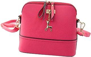 """Start Women's Single Shoulder Bags Zipper Sling Bag Large (29 17 48/11.4 6.7 18.9"""") Pink"""