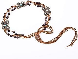 SGJFZD New Ethnic Wind Wax Rope Woven Handmade Belt Fashionable Waist Chain Dress Accessories Belt (Color : Blue)