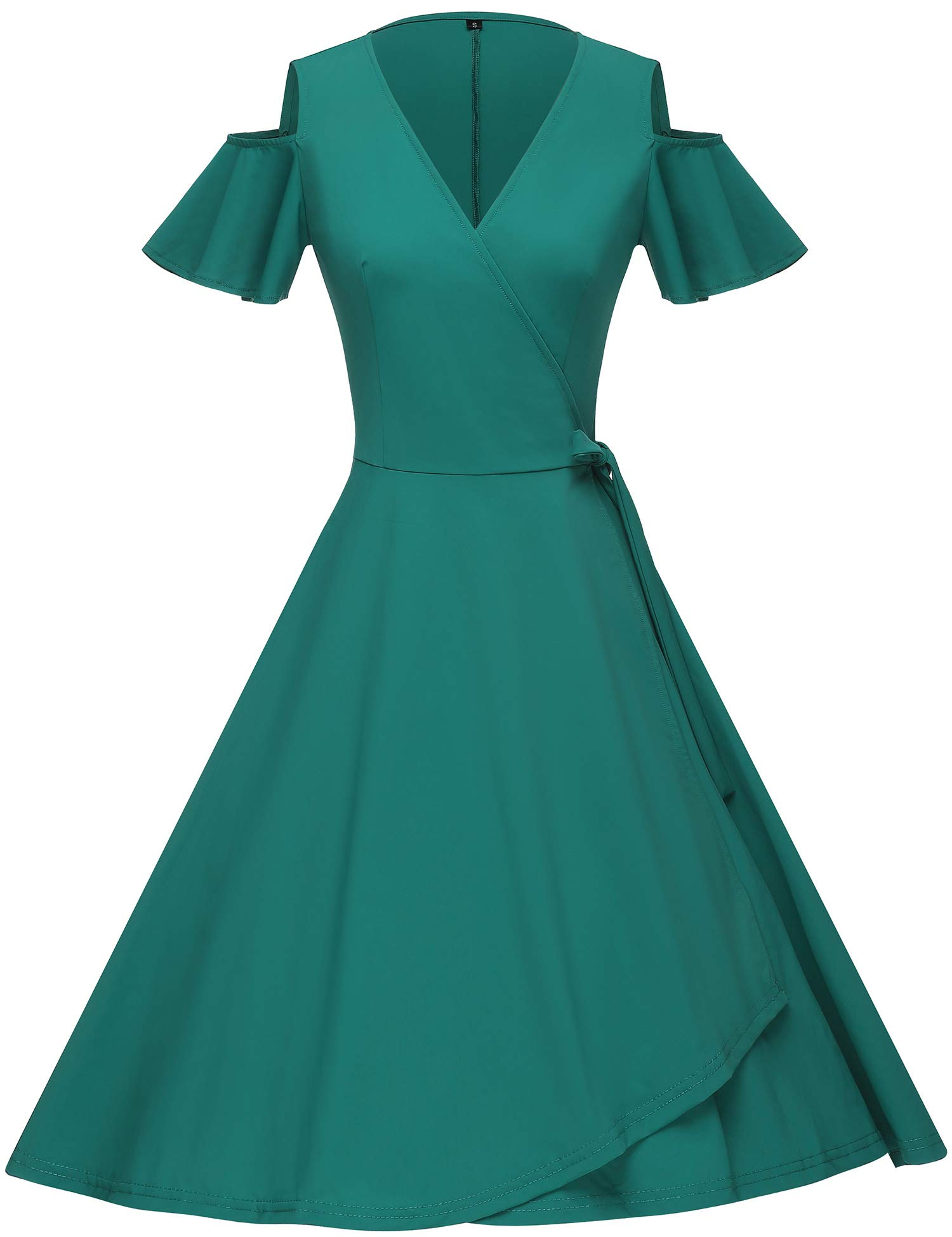 Available at Amazon: GownTown Women's 1950s Retro Style Short Sleeve Wrap Dresses