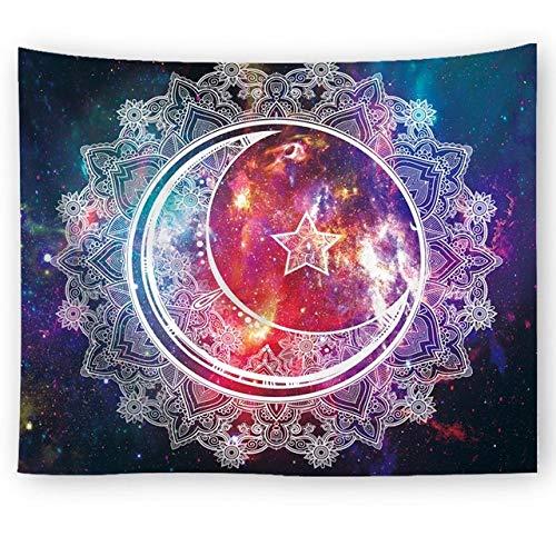 Mandala Sterrenhemel Tapijtwerk Geometrische Muur Opknoping Boheemse Deken Picknick Mat Tafelkleed Bed Sofa Cover Slaapkamer Woondecoratie, 8.150X150Cm