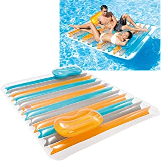 Intex Inflatable Double Pool Lounge Mat, Multi-Colour, 56897