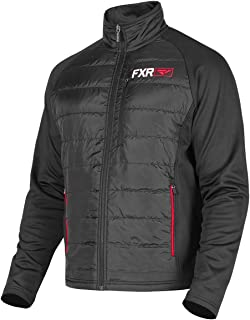FXR Mens Track Quilted Zip-Up XX-Large Black/Red