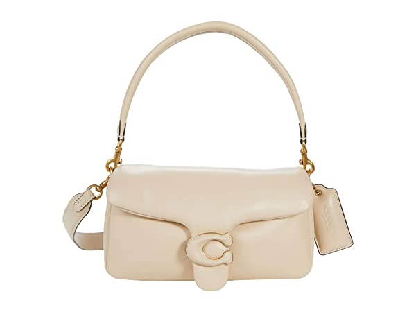 COACH Leather Covered C Closure Puffy Tabby Shoulder Bag 26