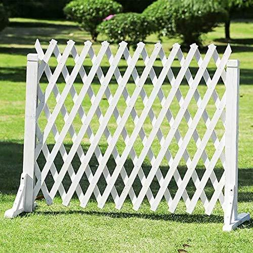 Erweitern von Gartenzaun, Tiersperrgitterplatten, weiße freistehende Holzgitter für Kletterpflanzen im Freien (Size : 85 * 160cm)