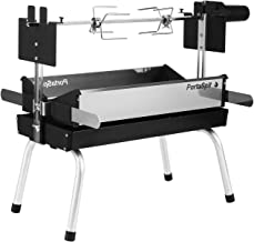 BBQ Creations B-005 PortaSpit Portable Spit Rotisserie/BBQ Charcoal Grill Improved Larger Size