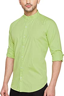 Go Stylish Solid Chinese Collar Casual Shirt for Men