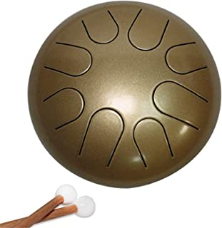 Steel Tongue Drum, 8 Notes Lotus Steel Drum Steel Tongue Handpan Drum Percussion Instrument Titanium Steel Alloy with Mall...