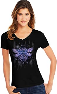 Women's Short Sleeve Graphic V-neck Tee (multiple graphics available)