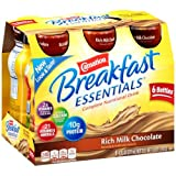 Carnation Breakfast Essentials Ready-to-Drink, Rich Milk Chocolate, 8 Ounce Bottle (Pack Of 6)