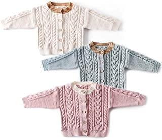 Baby Toddler Girl Fall Winter Cardigan Sweater for 0-24 Months