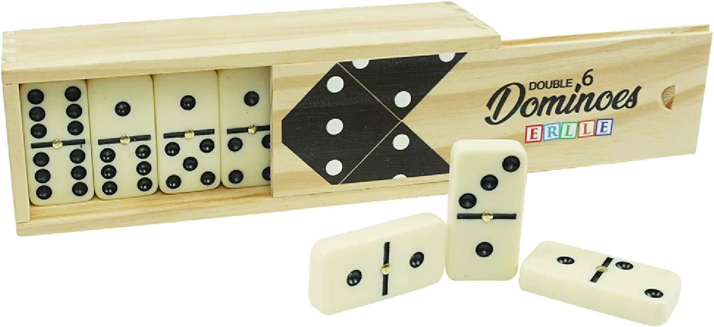Free Shipping New Dominos Set Game. Premium Classic 28 Domino in Pieces Double Genuine Six