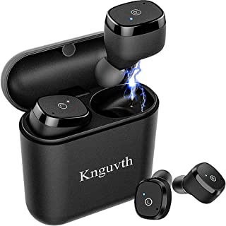 Wireless Earbuds, KNGUVTH Bluetooth Headphones 5.0 True Wireless Stereo Headset with Microphone HandsFree in Ear Sport Sweatproof Earphones with Charging Case Compatible with iPhone Samsung Android