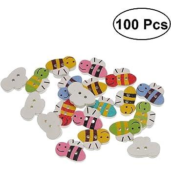 100pcs Kunststoff rund Knopf Knöpfe Button für DIY Nähen