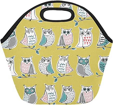 e8a58399a4 Insulated Neoprene Lunch Bag Hootenany Ay Afd Bea Dc A Ade Large Size  Reusable Thermal Thick