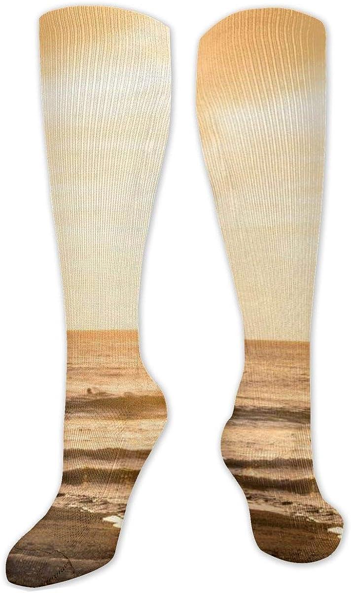 Sunset Knee High Socks Leg Warmer Dresses Long Boot Stockings For Womens Cosplay Daily Wear