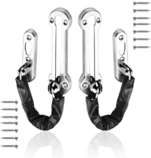 2 Pack Anti-Theft Chain ,Brushed Door Chain Latch Security Latches Guard Clasp Stainless Steel Heavy Duty Chain Door Lock ...