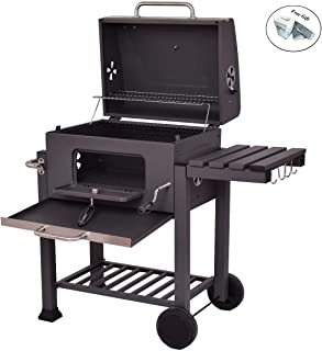 COSTWAY Charcoal Grill Barbecue BBQ Grill Outdoor Patio Backyard Cooking Wheels Portable Only By eight24hours + FREE E - Book