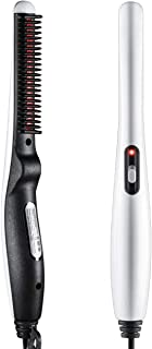 Beard and Hair Straightening Brush, LARMHOI Electric Comb for Men with Side Hair Detangling, Curly Hair Straightening for Beard Style, Hair Style, Women Short Hair Straightening