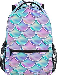 Mochila de sirena mágica lila, mochila escolar para niñas, niños y mujeres, ideal para el día de viaje
