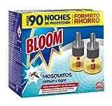 Bloom Insecticida Doble Eficacia Electrico Líquido para mosquitos común y tigre - Pack de 2 Recambios