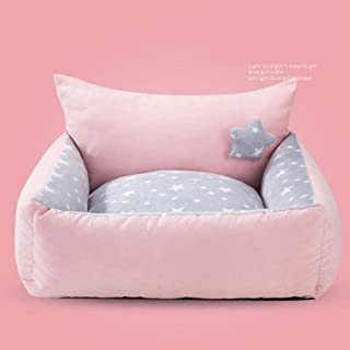 Warm Comfort Pet Bed Winter Plush Dog and Cat Nest Lovely Kennel Fluffy Bed Comfortable Reversible Cushion Detachable Wash...