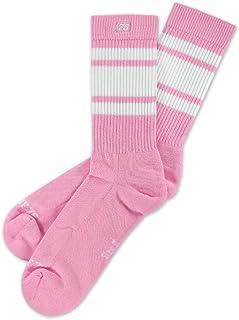 Spirit of 76, Bubblegum Lo - Calcetines de patinaje retro con rayas, color rosa y blanco a rayas | tobilleras | Calcetines unisex de tenis
