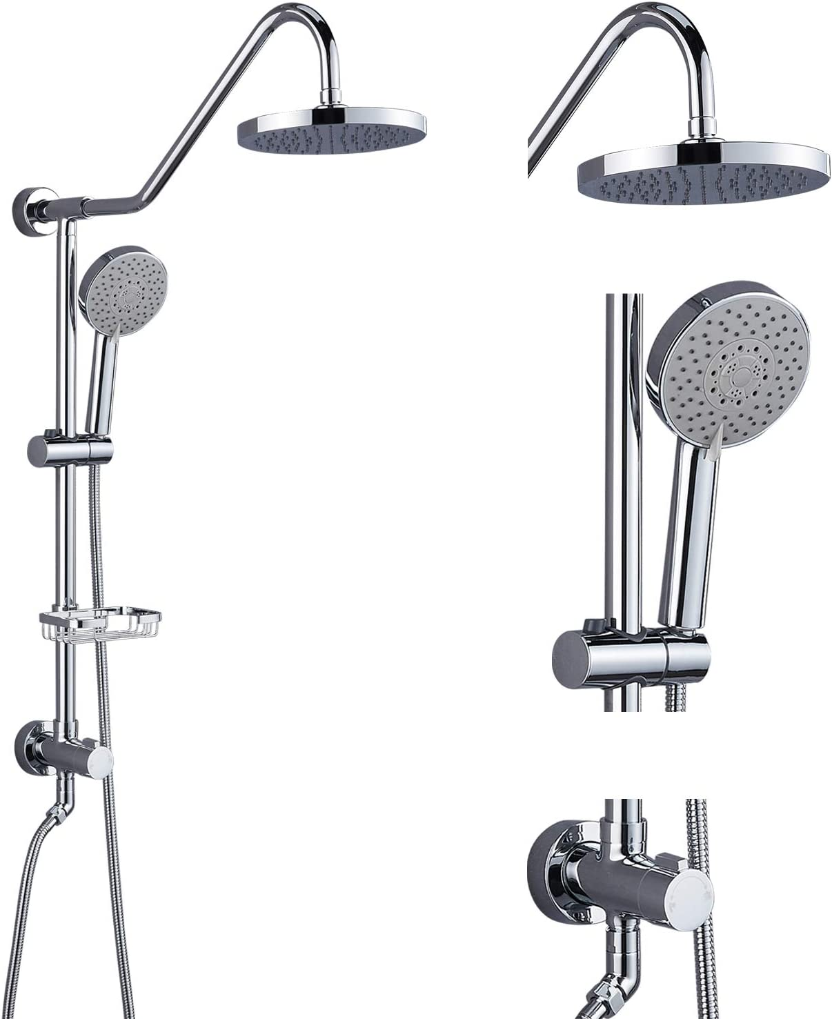 Aolemi Polish SEAL limited product Recommended Chrome Retrofit Shower System Inch 8 Rain H