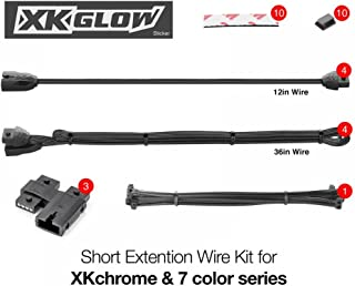 Short Extension Wire Kit for XKchrome & 7 Color Series for Motorcycle ATV Snowmobile