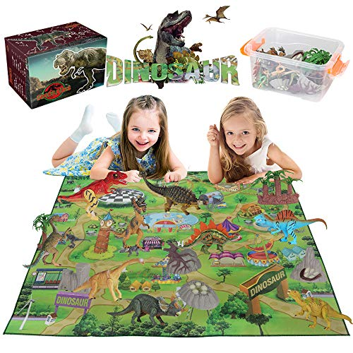 Dinosaur Toys Play Mat Kids Play Set Educational Gift Toys Boys Girls Outdoor