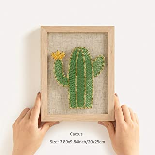 RM Studio DIY String Art Kit with Accessories and Frame for Kids Students Adults Beginners Home Wall Decorations Unique Gift (Cactus)