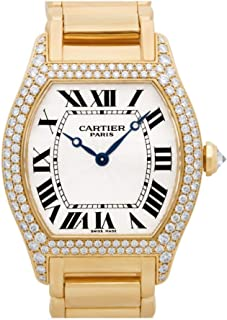 Cartier Tortue Mechanical-Hand-Wind Male Watch 2496 (Certified Pre-Owned)