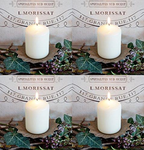 LB H&F Set 4 x Adventskranz Stecker Kerzenstecker Kerzenhalter Landhaus Shabby Nostalgie braun (Kerzenstecker - braun)