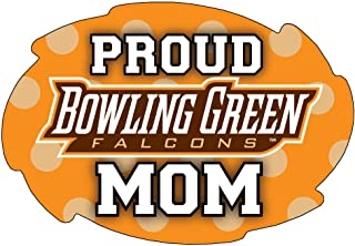 """R and R Imports, Inc Bowling Green Falcons NCAA Collegiate Trendy Polka Dot Proud Mom 5"""" x 6"""" Swirl Decal Sticker"""