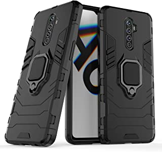 FanTing Case for Oppo Realme X2 Pro, Rugged and shockproof,with mobile phone holder, Cover for Oppo Realme X2 Pro-Black