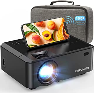 WiFi Mini Projector, DBPOWER 7000L HD Video Projector with Carrying Case&Zoom, 1080P and iOS/Android Sync Screen Supporte...