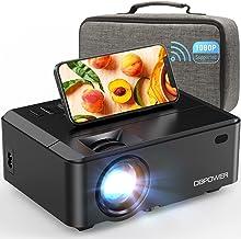 مینی پروژکتور WiFi ، ویدئو پروژکتور DBPOWER 7000L HD با کیف حمل
