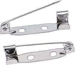TRIXES 100 x Fermagli con Barra di Fissaggio per Chiusure Posteriori - Spille per Badge - Chiusura Posteriore sicura - 25 mm